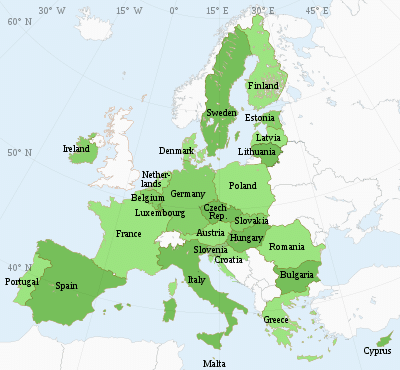 Các nước thành viên Liên minh châu Âu